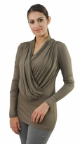 Cowl Front Maternity or Nursing Tunic