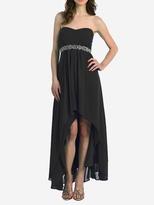 Pretty Danni High/ Low Strapless Embellished Maternity Evening/Formal Gown