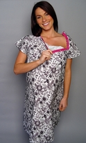 Ella Maternity 100% Organic Cotton Hospital Gown  - <b>Worn by Bethenny Frankel</b>