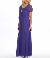 Elsie Long Special Occasion Formal Maternity Gown Dress