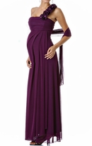 NEW! Emily One Shoulder Long Formal Maternity Dress