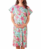 NEW! Isabelle 100% Organic Cotton Maternity Hospital Gown