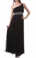Kendra One Shoulder Long Formal Occasion Maternity Dress
