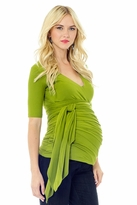 NEW! Bella Wrap Around Short Sleeve Maternity Top