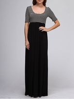 NEW! Black and White Striped Maxi Maternity Dress