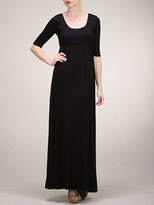 NEW! Black Long Maternity Short Sleeve Maxi Dress