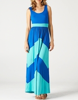NEW! Chic Chevron Blue/Aqua Maternity Tank Maxi Dress
