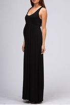 New! Long Black Maternity Tank Maxi Dress