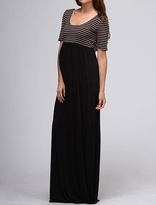 NEW! Mocha and Black Striped Maternity Maxi Dress