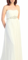 Stunning Strapless Emma Maternity Formal/Wedding Gown