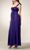 Stylish Lily Long One Shoulder Flower Formal Maternity Gown