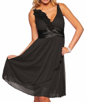 Stylish Mia Satin Empire Waist Cocktail Maternity Dress