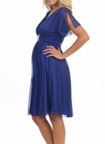 Trendy Tummy Maternity Short Evening Maternity Dress