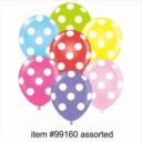 "11"" Assorted Polka Dot Latex Balloons 50ct"