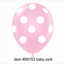 "11"" Baby Pink Polka Dot Latex Balloons 50ct"