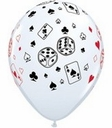 "11"" Qualatex Casino Latex Balloons White 50ct"