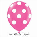 "11"" Hot Pink Polka Dot Latex Balloons 50ct"