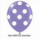 "11"" Lavender Polka Dot Latex Balloons 50ct"