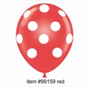 "11"" Red Polka Dot Latex Balloon 50ct"