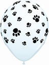 "11"" Qualatex Paw Prints 50ct"