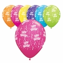 "11"" Qualatex Birthday Print 50ct"