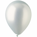 "11"" Silver Metallic Latex Balloons 100 Per Bag"