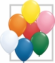 "11"" Qualatex Latex Balloons Standard Color 100 per bag."