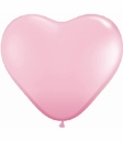 "Qualatex 11"" White Latex Heart Heart Shape Balloons 100ct"