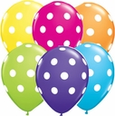 "11"" Qualatex Polka Dot Latex Balloons 50ct"