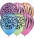 "11"" Qualatex Neon Assorted Safari 50ct"