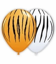 "11"" Zebra and Tiger Stripes 50ct"