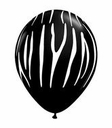 "11"" Zebra Stripes Onyx Black 50ct"