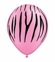 "11"" Zebra Stripes on Neon Pink 50ct"