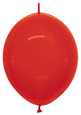 """12"""" Crystal Red Link-O-Loon 100ct"""