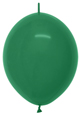 "12"" Forest Green Link-O-Loon 100ct"