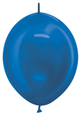 "12"" Metallic Blue Link-O-Loons 100ct"