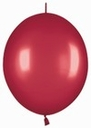 "12"" Metallic Red Link-O-Loons 50ct"