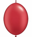 "12"" Qualatex Pearl Ruby Red Latex Quick Link Helium Arch Balloons 50ct"