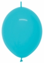 """12"""" Turquoise Blue Helium Latex Link O Loons 50 Per Bag"""