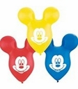 "15"" Mickey Ears Shape Assorted Colors 25 bag"