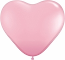 "15"" Pink Latex Hearts 50ct"