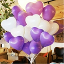 "15"" Qualatex Latex Heart Shape Balloons 50 Per Bag"