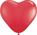 "15"" Ruby Red Latex Heart 50ct"
