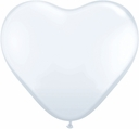 "15"" White Latex Hearts 50ct"