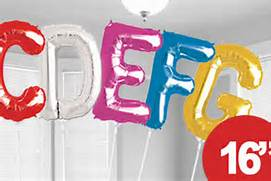 "16"" Foil Letter Balloons Air Fill Only"