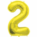 "16"" Gold Foil Number Balloons"