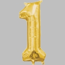 "16"" Mini Gold Foil Number Air Fill Balloons"