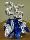 Mini Self Sealing Foil Number Balloons. DO NOT FLOAT. DO NOT FILL WITH HELIUM.