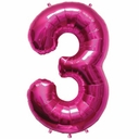 Mini Magenta Foil Number Balloons