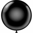 "17"" Tuf Tex Black Round Latex Balloons 72 Per Bag"